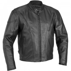 LEATHER JACKET VENTED RIVER ROAD RACE (OUTLET)