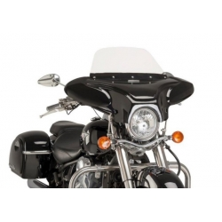 FIBER WINDSHIELD IN BLACK GLOSS C800 INTRUDER 05-08