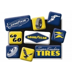 SET OF 9 GOODYEAR MAGNETS