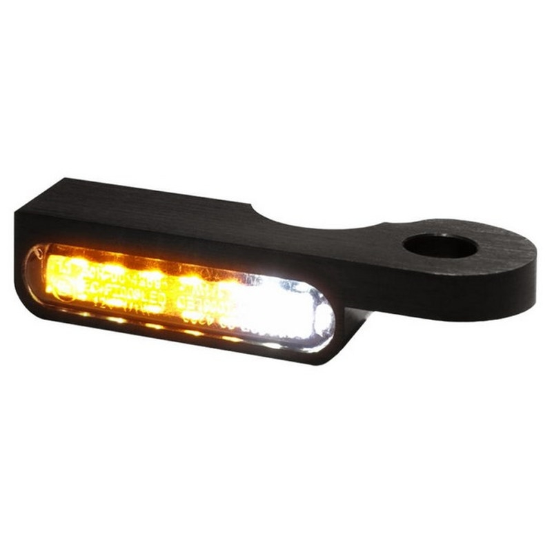 UK CNC Chrome Turn Signal Light Bullet Amber Indicator LED Lamp for Harley AP