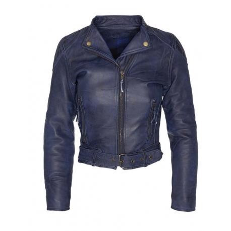 official store chaqueta de moto de cuero para mujer invictus