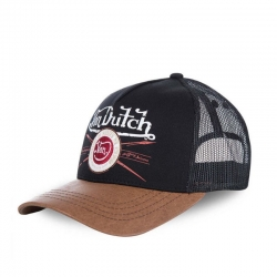 VON DUTCH BASEBALL CAP BROWN AND BLACK PIN