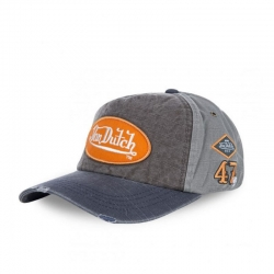 VON DUTCH CAP BASEBALL JACK ORANGE LOGO