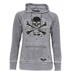 LETHAL ANGEL IMMORTAL WOMEN'S SWEATSHIRT CROSSBONES GRAY