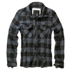 GRAY BLACK BRANDIT CHECK CHECK SHIRT