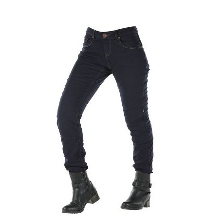 OVERLAP NAVY WOMEN'S JEANS TROUSERS