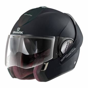 casco-integral-shark-evoline-3-black-metal-mat