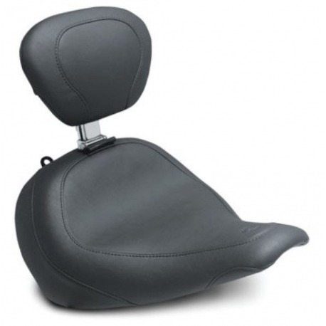 MUSTANG SOLO SEAT WITH BACK WIDE TRIPPER HARLEY DAVIDSON FLHT, FLTR, FLHX, FLHX 08-26