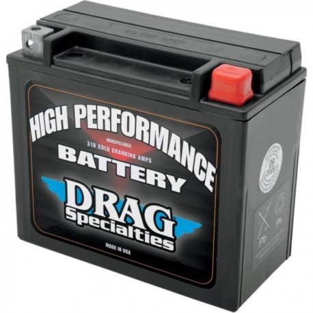 DRAG SPECIALTIES INDIAN BATTERY (VARIOUS MODELS)
