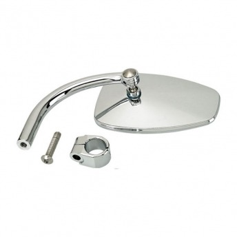 "MIRROR WITH CLAMP 1 ""BILTWELL UTILITY TEARDROP CHROME"
