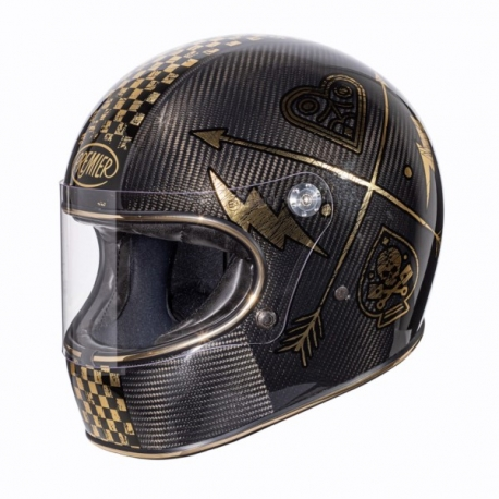 FULL FACE HELMET TROPHY CARBON NX GOLD CHROMED