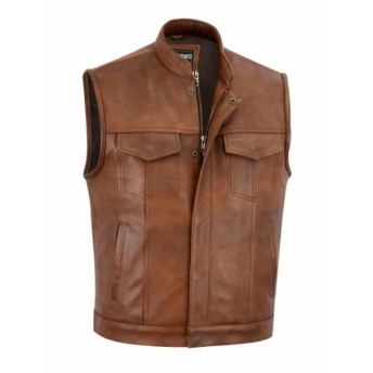 SOA CLASSIC BROWN LEATHER VEST