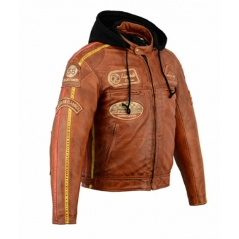CLASSIC CAPUCHA LEATHER JACKET