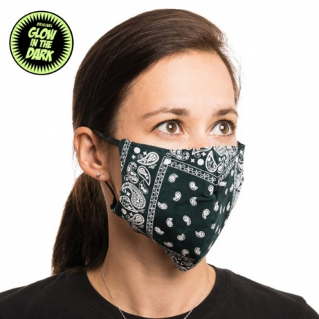 GREEN FACE MASK FOR FILTER