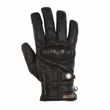 LEATHER GLOVES HELSTON BLACK