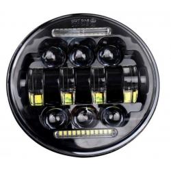 CENTRAL HEADLIGHT LED ALIEN 14.6 CM BLACK HARLEY DAVIDSON (VARIOUS MODELS)
