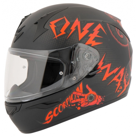 INTEGRAL HELMET SCORPION EXO-390 ONE WAY BLACK