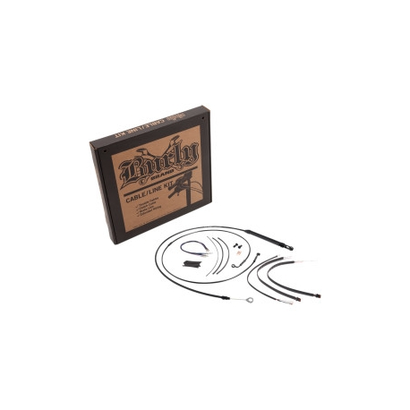 """KIT CABLES BURLY NEGRO 12"""" HARLEY DAVIDSON DYNA FXD 2006 SIN ABS"""