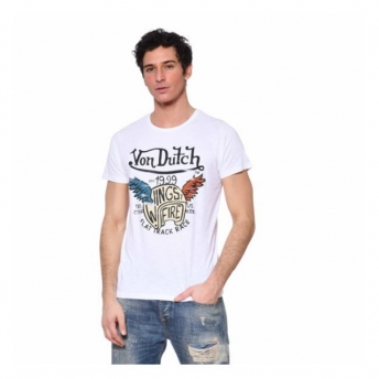 CAMISETA VON DUTCH WING BLANCA