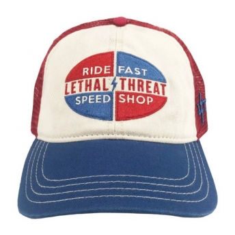 GORRA LETHAL THREAT SPEED SHOP AZUL/ROJO/BLANCO