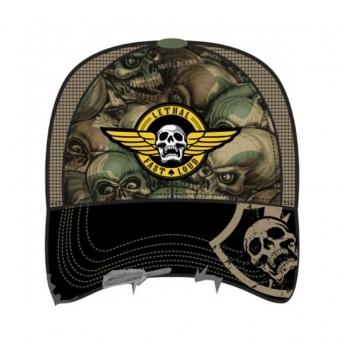 LETHAL THREAT MEN'S TRUCKER HAT ARMY SKULL CAMO