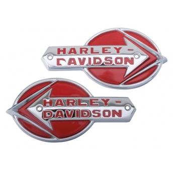 HARLEY DAVIDSON 1937-1946 OEM TANK EMBLEMS
