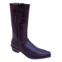 LEATHER BIKER BOOTS BLACK OIL PULL 1936 (OUTLET)