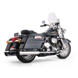 ESCAPE HARLEY DAVIDSON TOURING COBRA SLASHDOWN SLIP-ONS 1995-UP