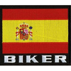 BIKER PATCH SPAIN 12.5 X 12.5 cm