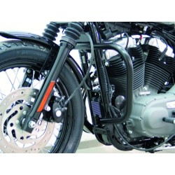 DEFENSE MOTOR 30mm. BLACK Sportster EVO '04 -UP