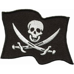 PARCHE PIRATE FLAG 19 X 24 CM