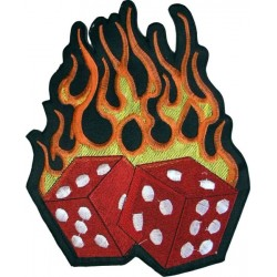 PARCHE BURNING DICES 19x15.5cm