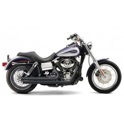 ESCAPE HARLEY DAVIDSON DYNA COBRA SPEEDSTER BLACK SLASH DOWN