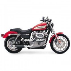 ESCAPE SUPERTRAPP Harley Davidson Sportster XL X-PIPES BLACK II