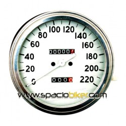 "SPEEDO MECHANICAL 2: 1 ""WHITE-MINI"" HD FL, FX / FXR and XL"