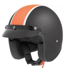 HELMET JET CUSTOM II ORANGE RETRO BAND