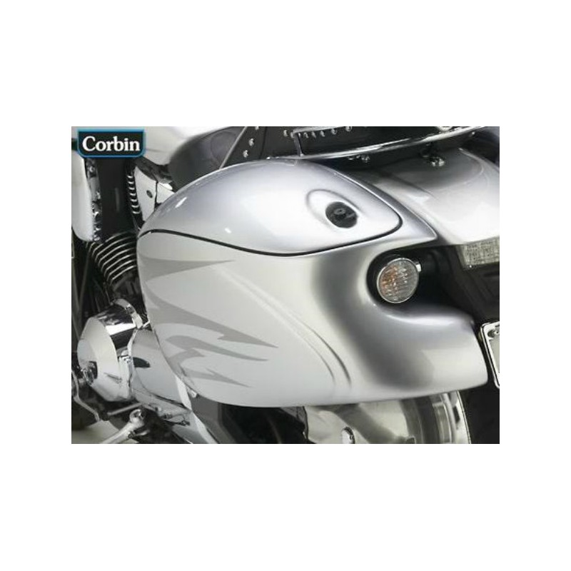 CORBIN BEETLE SADDLEBAGS HONDA VTX 1800-F 05-09 - SpacioBiker
