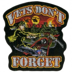DONT FORGET VETS PATCH 38CM
