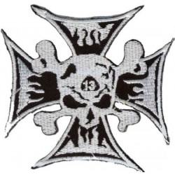 SKULL CROSS PATCH 13