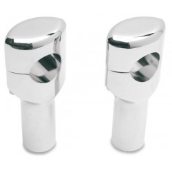 SMOOTH CHROME HANDLEBAR RISERS 32mm. 7.6cm