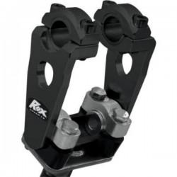 Handlebar risers 12.7cm HEIGHT OF 22MM or 28MM BLACK